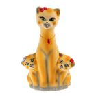 "Копилка ""Кошка с котятами"" флок, жёлтая"
