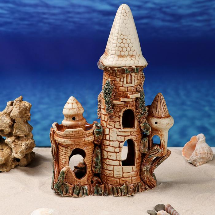 "Декорации для аквариума ""Фантазийный замок"" микс - фото 1725508"