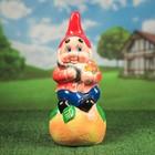 """Садовая фигура """"Гном на апельсине"""", микс, 52 см"""