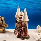 "Декорация для аквариума ""Замок острый с башней на скале"", 11 х 22 х 27 см, микс - фото 7454501"