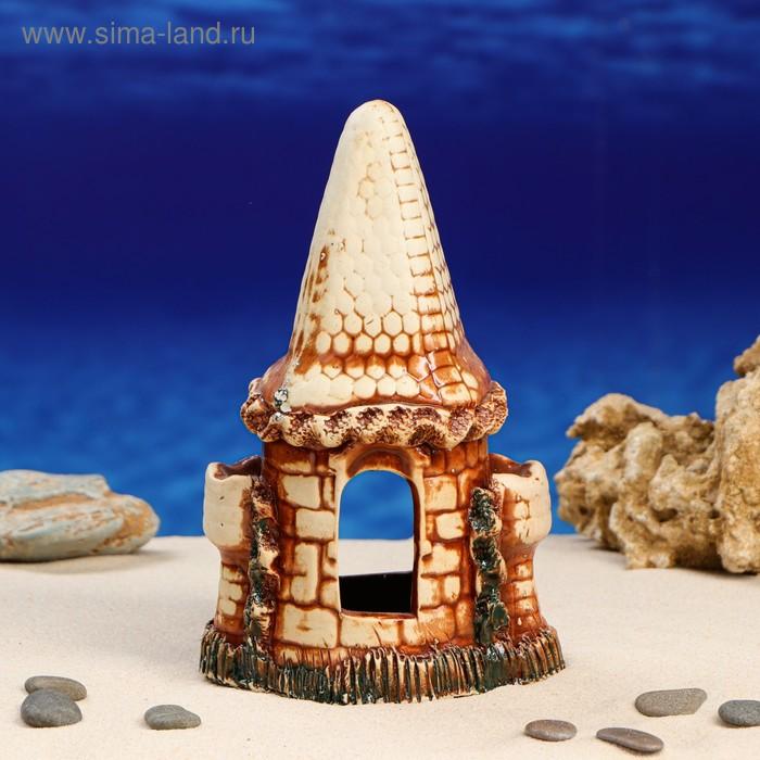 """Декорации для аквариума """"Средний замок с аркой"""" микс"""