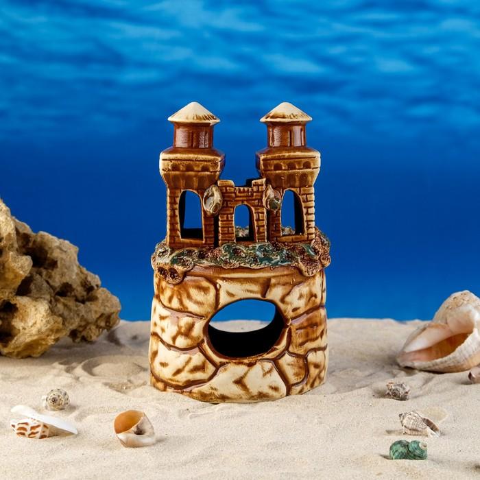 """Декорации для аквариума """"Замок и две башенки"""""""