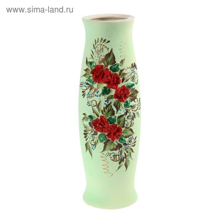 """Ваза """"Ромина"""" большая, цветы, лепка"""