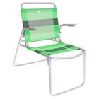 Кресло-шезлонг складное, цвет салатово-зелёный