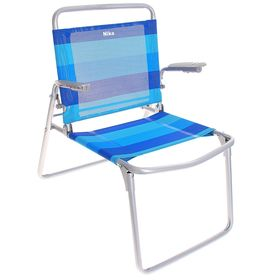 Кресло-шезлонг складное, цвет сине-голубой Ош
