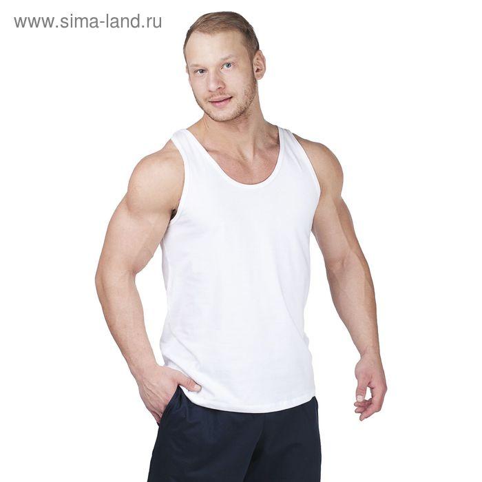 Майка мужская 1541 белый, рост 170,176, р-р 46 (92)