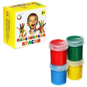 Краски пальчиковые, набор 4 цвета x 40 мл, Экспоприбор