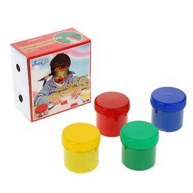 Краски пальчиковые сенсорные, набор 4 цвета по 100 мл «Экспоприбор»
