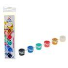 Краска акриловая, набор Pearl, 6 цветов по 5 мл, Экспоприбор, перламутровые