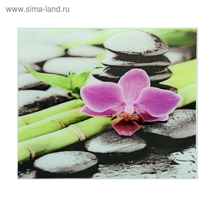 """Картина на стекле """"Орхидея"""""""