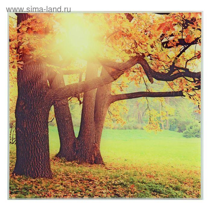 """Картина на стекле """"Осеннее солнце"""""""