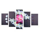 """Модульная картина на подрамнике """"Лотос и белые орхидеи"""""""