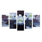 """Модульная картина на холсте с подрамником """"Белые орхидеи"""""""