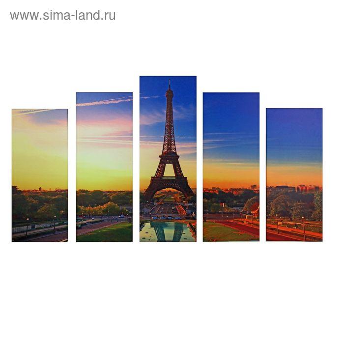 "Модульная картина на подрамнике ""Париж на закате"""