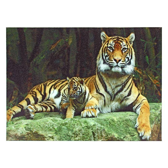 """Картина на подрамнике """"Тигр и тигрёнок"""""""