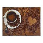 """Картина на подрамнике """"Кофе и сердце"""""""