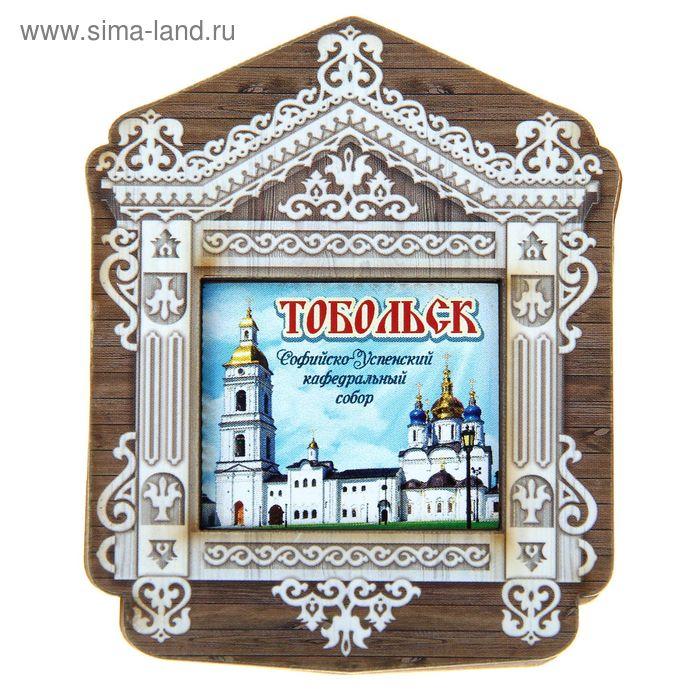 """Магнит в форме окна """"Тобольск"""""""