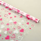 "Пленка для цветов и подарков ""Радмила"" ярко-розово-белый 0.7 х 8.2 м, 40 мкм"