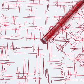 Пленка для цветов и подарков 'Граффити' красный 0.7 х 8.2 м, 40 мкм Ош