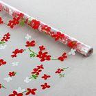"""Пленка для цветов и подарков """"Сакура"""" красный 0.7 х 8.2 м, 40 мкм"""