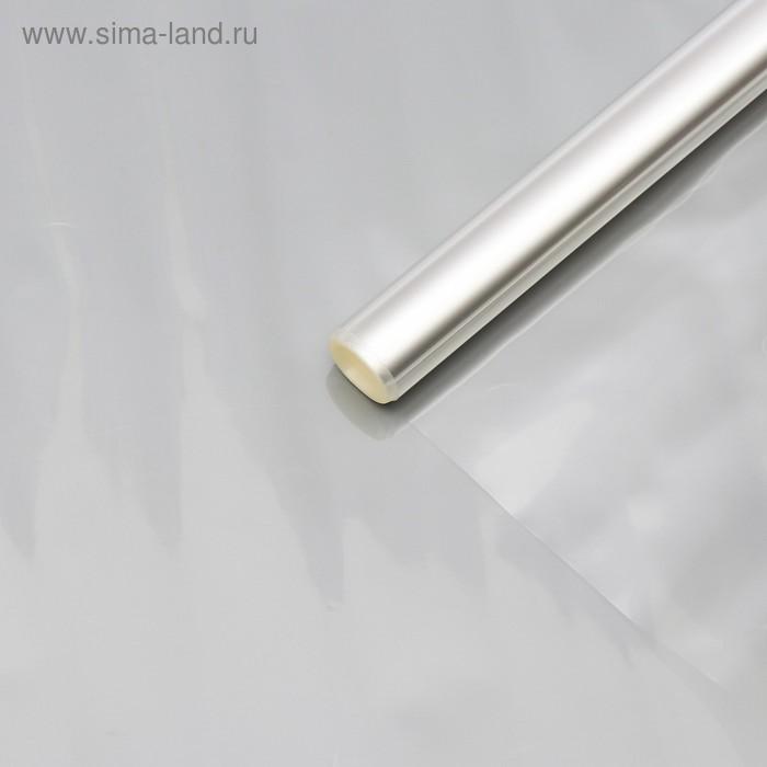 Плёнка для цветов прозрачная 1 х 5,5 м, 200 г, 40 мкм