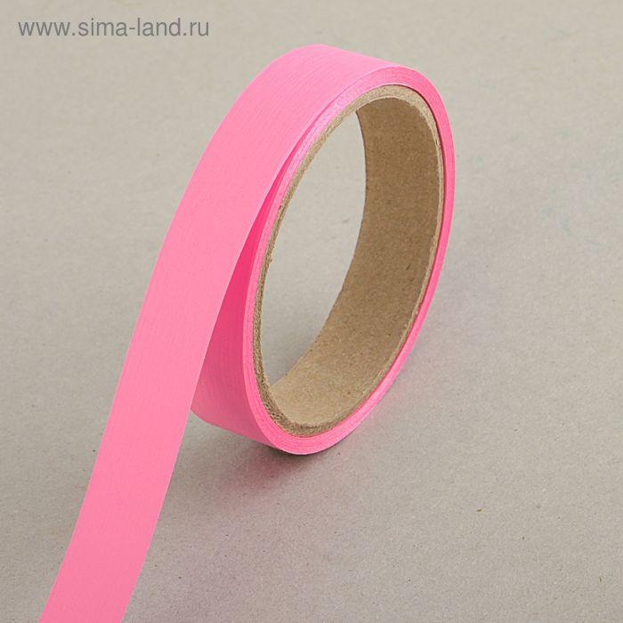 "Лента для декора и подарков ""Аспидистр"" 2 см х 10 м, тиснение, розовая"
