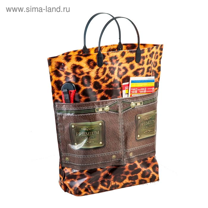"Пакет ""Премиум"" мягкий пластик, с карманами, 37х37 см, 150 мкм"