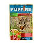 """Влажный корм """"Puffins"""" для кошек, говядина в аппетитном желе, 100 г"""