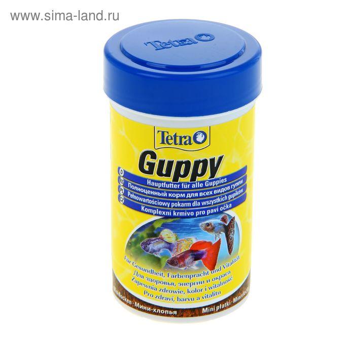 Корм для рыб TetraGuppy хлопья, 100 мл