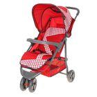 Колясна прогулочная трёхколёсная, цвет красный