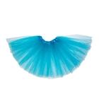 Карнавальная юбка 3-х слойная 4-6 лет, цвет голубой
