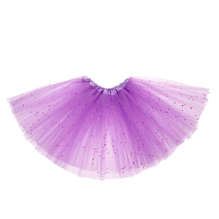 Карнавальная юбка, 3-х слойная, 4-6 лет, цвет сиреневый