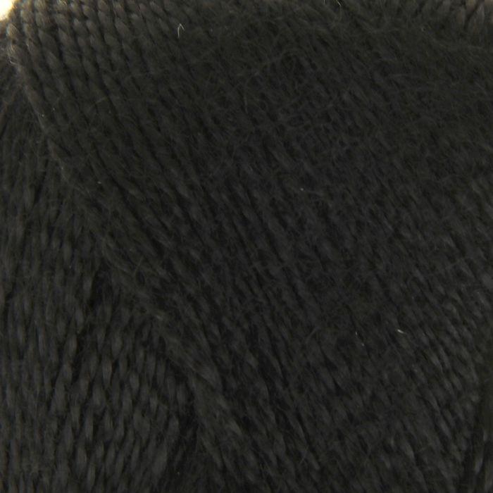 """Пряжа """"Шелковый блеск"""" 100% лиоцель(вискоза/эвкалипт) 400м/100гр (0140, черный)"""