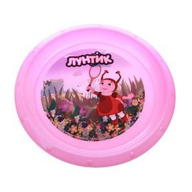 Тарелка d=21,5 см 'Мила', цвет розовый Ош