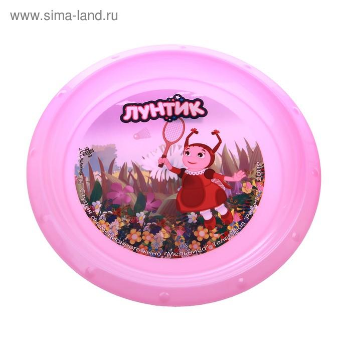 """Тарелка d=21,5 см """"Мила"""", цвет розовый"""