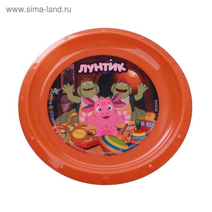 """Тарелка d=21,5 см """"Лунтик, Вупсень и Пупсень"""", цвет оранжевый"""