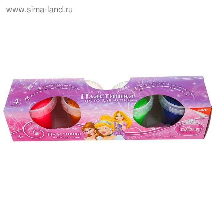"Тесто для лепки ""Принцессы Disney"", 4 цвета"