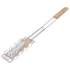 Решетка для сосисок  570*130*170, хром.сталь, дер.ручка  132-2