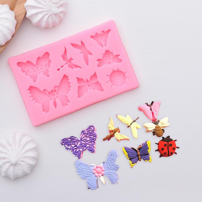 """Молд силиконовый 11×7 см """"Бабочки"""" - фото 308041146"""