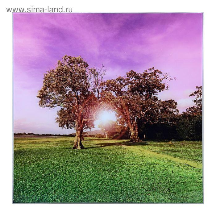 """Картина на стекле """"Два дерева"""""""