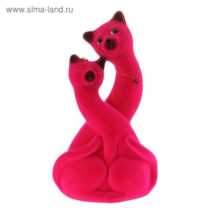 """Копилка """"Коты Инь-ян"""" флок, розовая"""