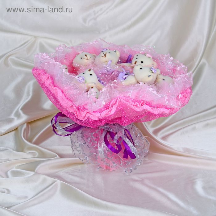 """Букет из игрушек """"Розалия"""" розовый"""
