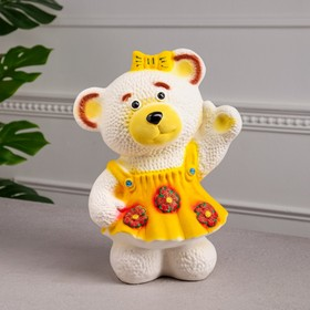"""Копилка """"Медведица в платье"""", флок, 29 см, микс"""