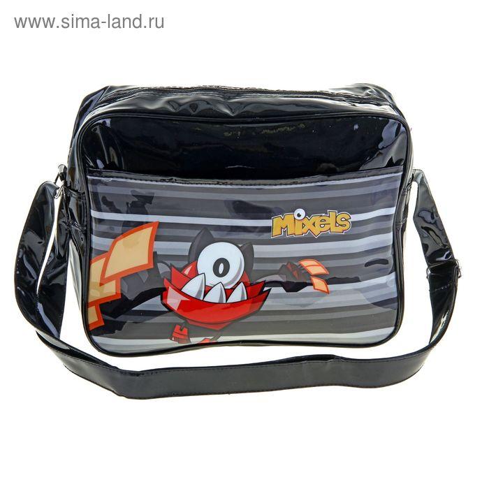Сумка молодежная Mixels Lucky bag 32*26*8.5 с кошельком школьная