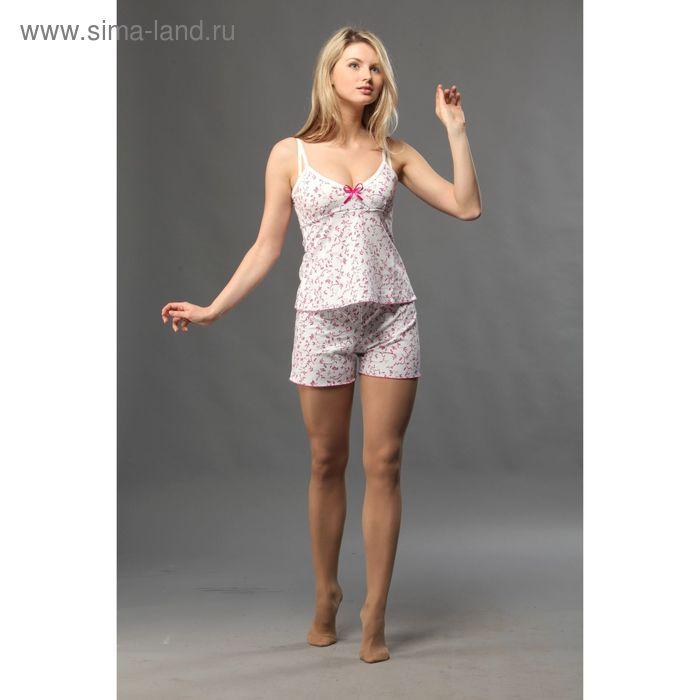 Пижама женская (топ, шорты), цвет МИКС, размер 42 (арт. FS2060)