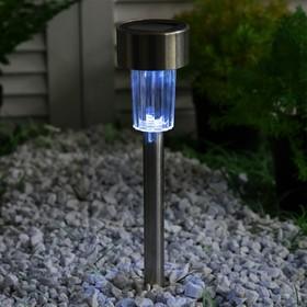 """Фонарь садовый на солнечной батарее """"Цилиндр"""" 35,5 см, d-5,5 см, LED"""