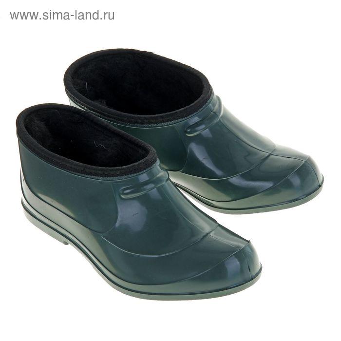 Галоши ПВХ арт. Г201-М мех (зеленый) (р. 38)