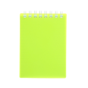 Notebook A7, 80 sheets on the crest of DIAMOND NEON, plastic cover, yellow.