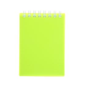 Блокнот в пластиковой обложке А7, 80 листов на гребне DIAMOND NEON, желтый Ош