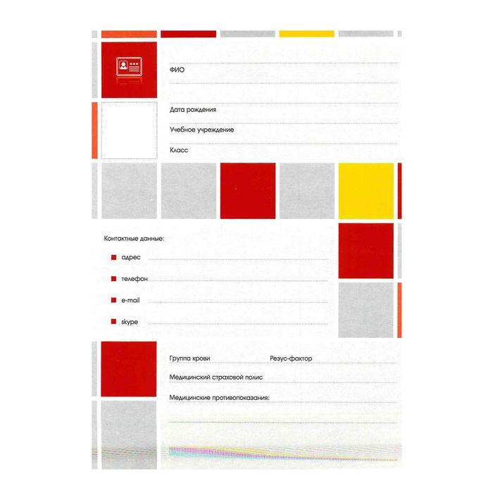 Набор вкладышей для портфолио «Яркая графика», для учеников 1-11 классов, А4, 16 листов, картон, в пакете с европодвесом - фото 408707757